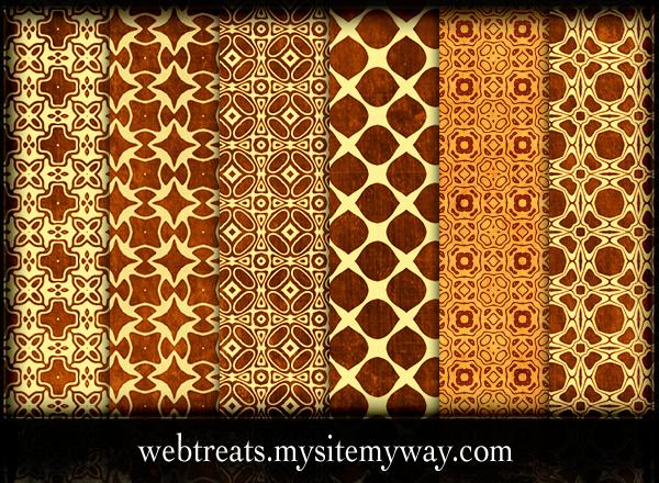 Ornate Grungy Golden Patterns by WebTreatsETC