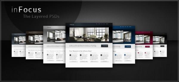 Free PSDs of our inFocus Theme by WebTreatsETC