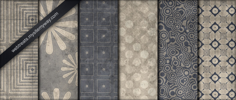 Blue and Beige Patterns Part 3 by WebTreatsETC