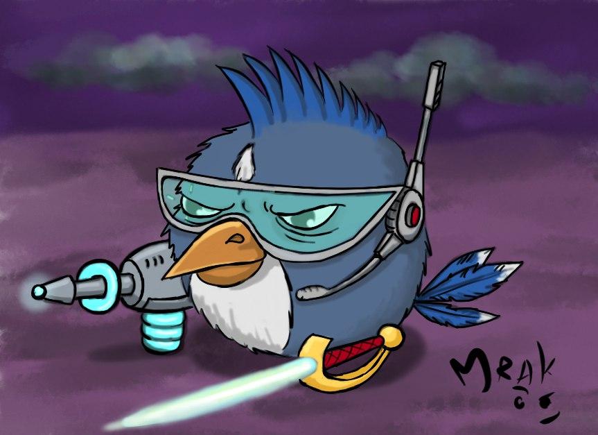 Space mercenary bird by Mrakoboy