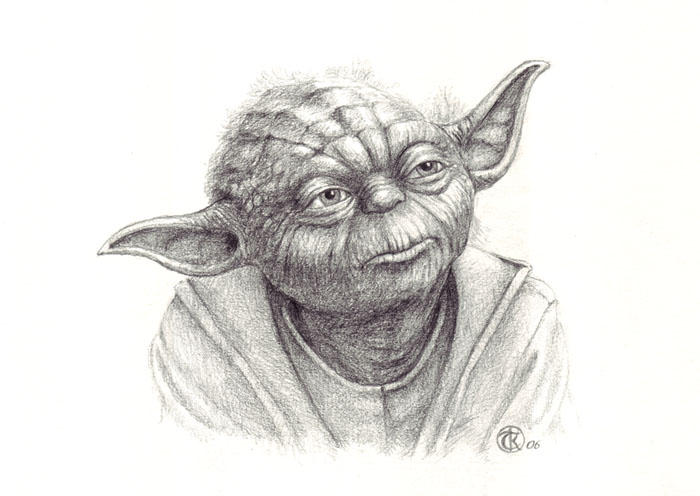 Little old Yoda by ktalbotYoda Face Drawing