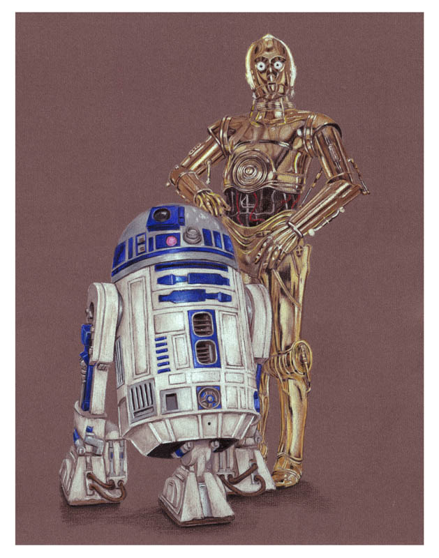 R2D2 and C3PO by ktalbot on DeviantArtR2d2 And C3po Drawing