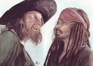 Captain Barbossa + Jack