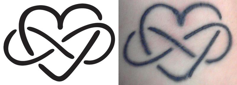 Mon premier tatouage que j'aime a l'infini by simlevesque