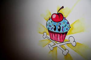 Graffiti Cupcake by mashita