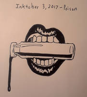 INKTOBER 3rd, Poison by DABurgosART