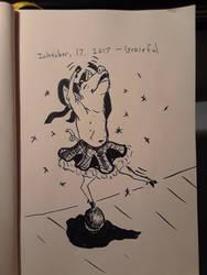 INKTOBER 17th - Graceful by DABurgosART