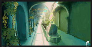 old arabic  hallway