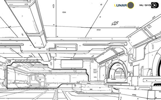 LUNAR station  line art