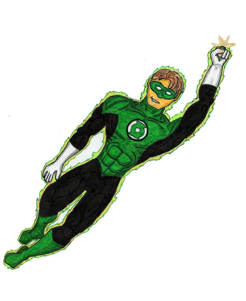 green lantern flying by the primal clark on deviantart