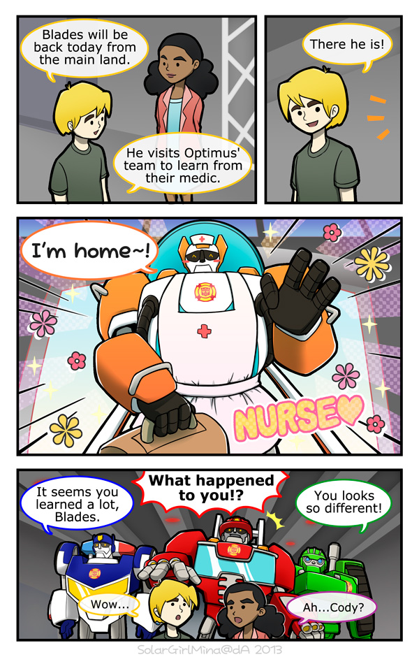 Rescue Bots - Nurse Blades by SolarGirlMina