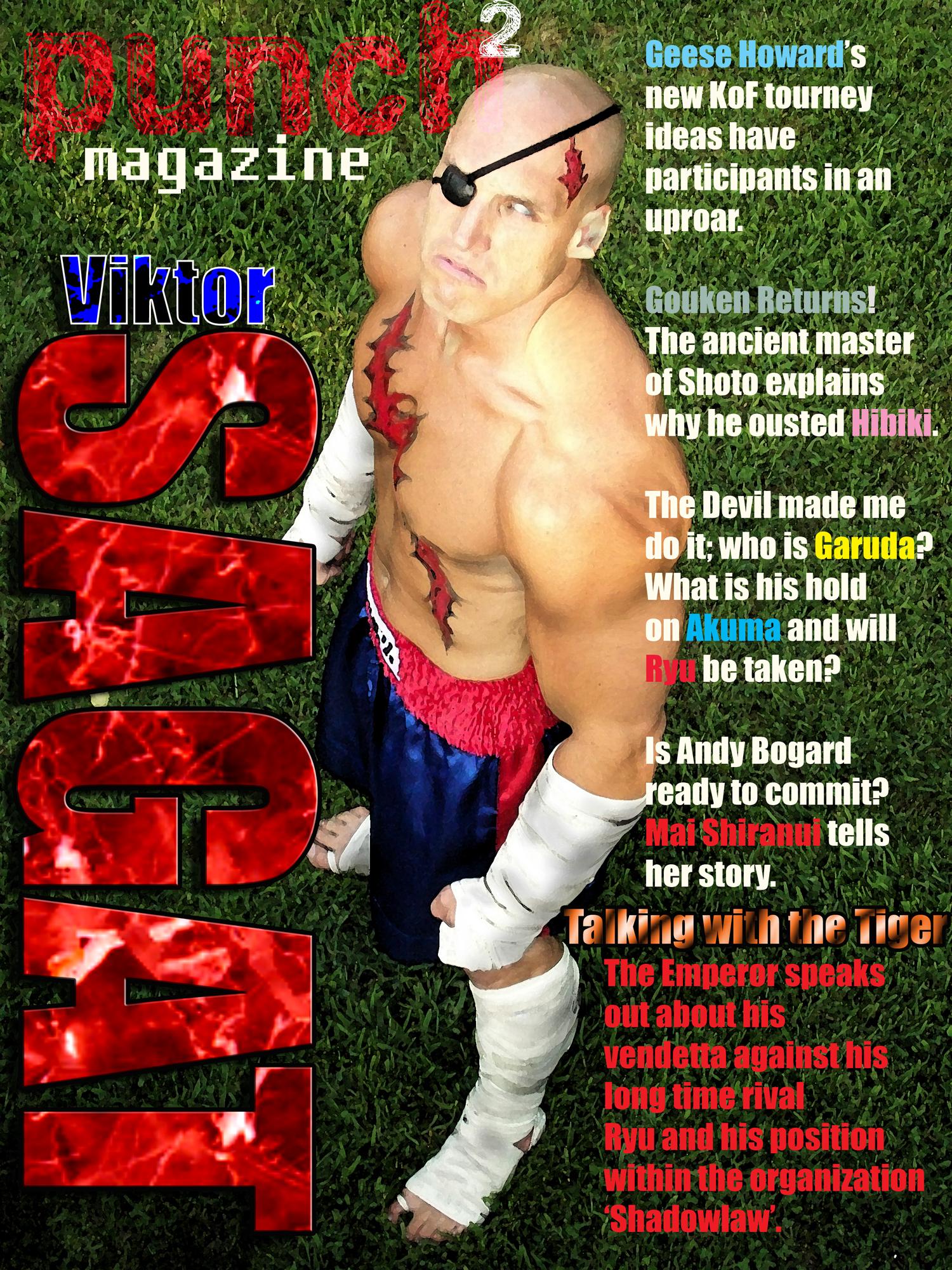 Punch2 magazine feat.:Sagat by kaxblastard