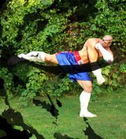 Sagat kicking Sume-i by kaxblastard