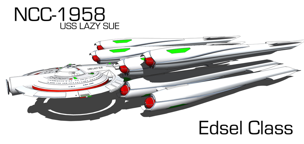 NCC-1958 USS LAZY SUE Edsel Class by kaxblastard