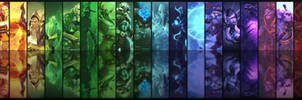 Dota2 Heroes Dual Monitor Background by 3i20d99e