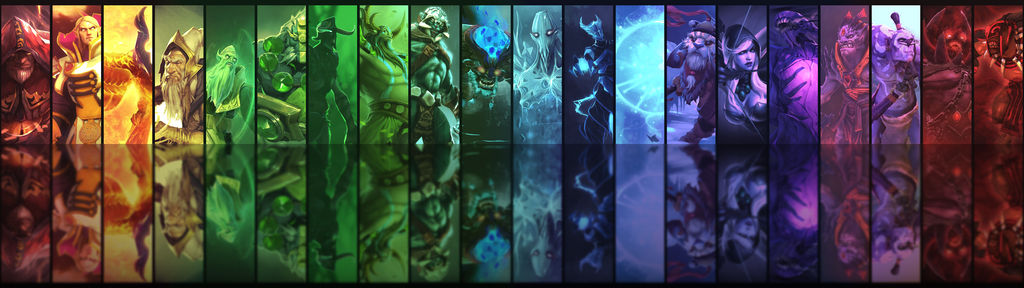 Dota2 Heroes Dual Monitor Background by 3i20d99e on DeviantArt