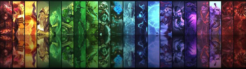 Dota2 Heroes Dual Monitor Background