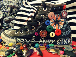 Rainbow Buttoned Converse 2