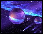 Glowing Spheres 1 Print