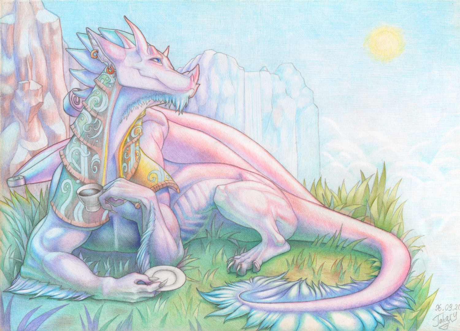 Pink Dragon by Jahary