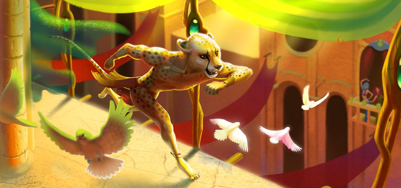 Run, cheetah! by Jahary