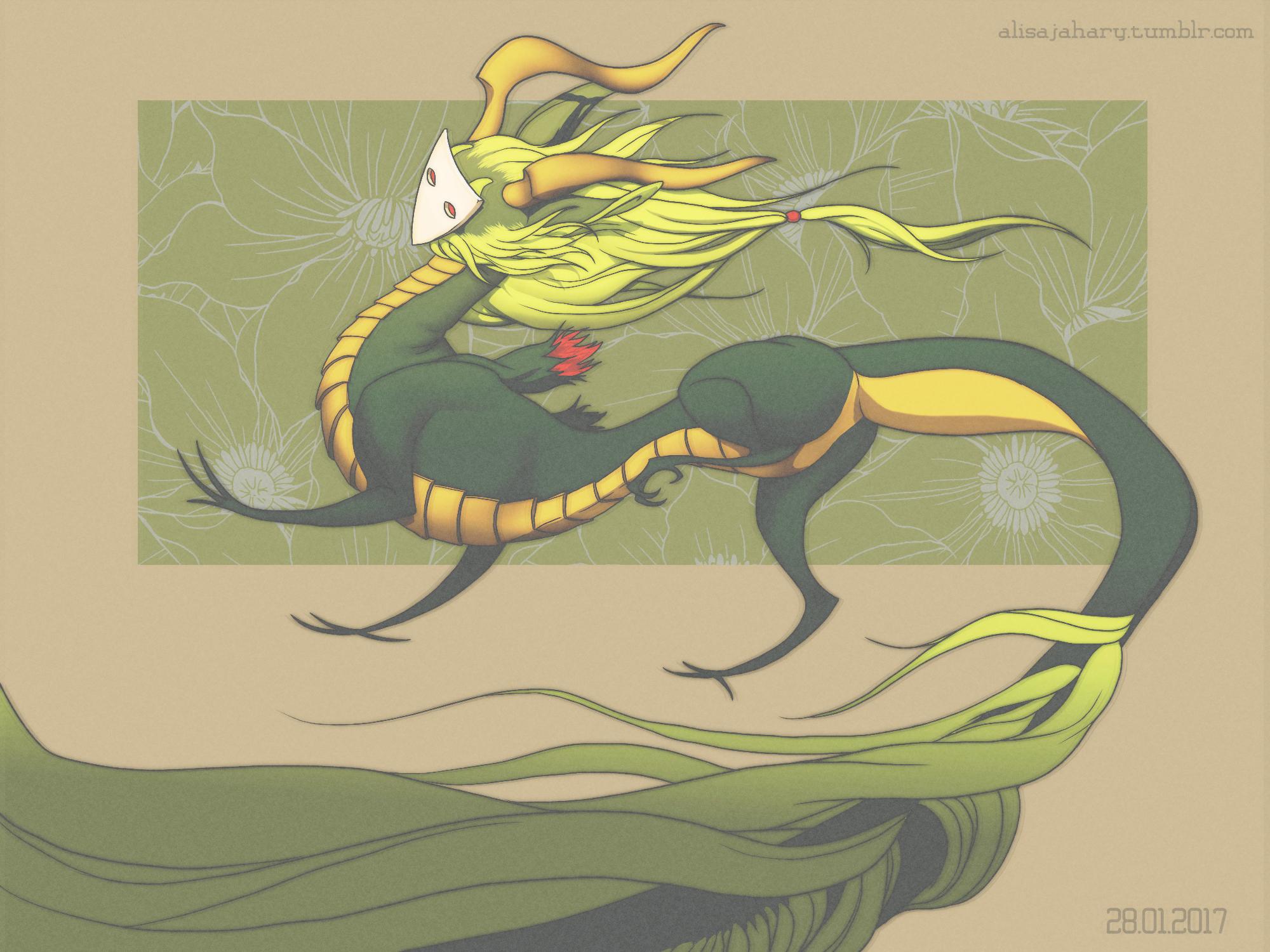 Retro Dragon by Jahary