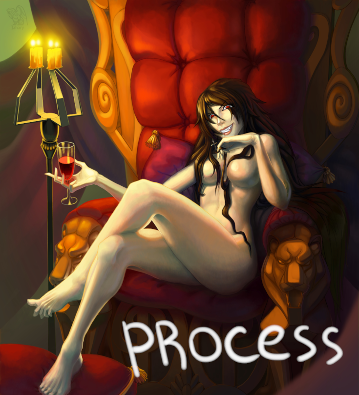 PROCESS. Vampire in chair by Jahary