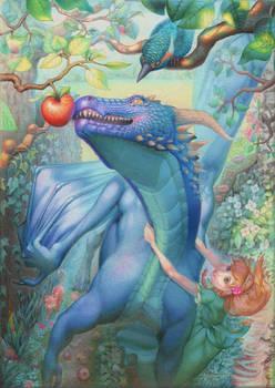 Dragon and apple