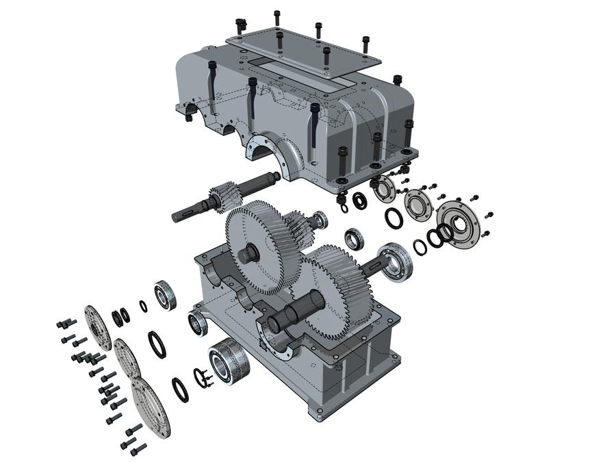 2stufiges getriebe technical by macray411 on deviantart. Black Bedroom Furniture Sets. Home Design Ideas