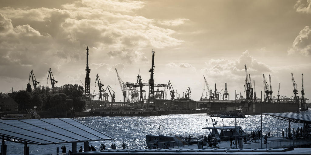 Hamburg Harbour view by macray411