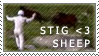 The Stig -heart- Sheep -Stamp by SingyStar
