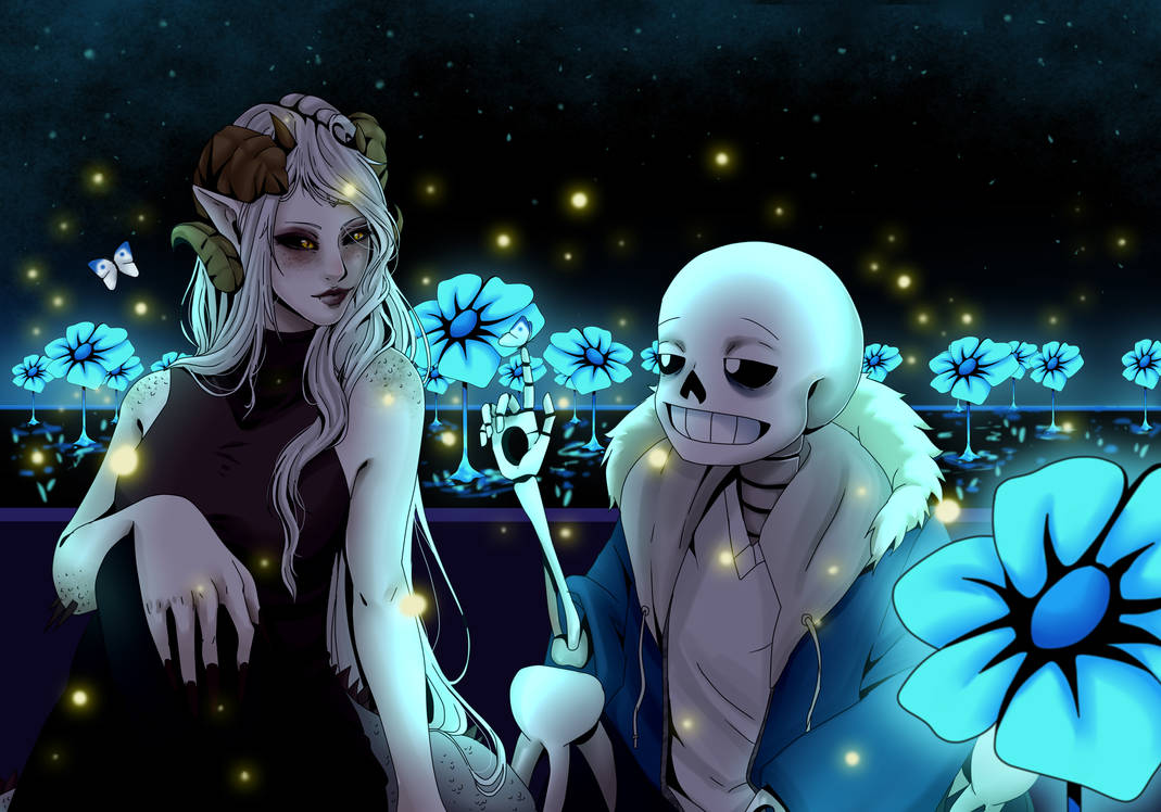 (ArtTrade) Undertale Sans x Cleo by SuccubusChan