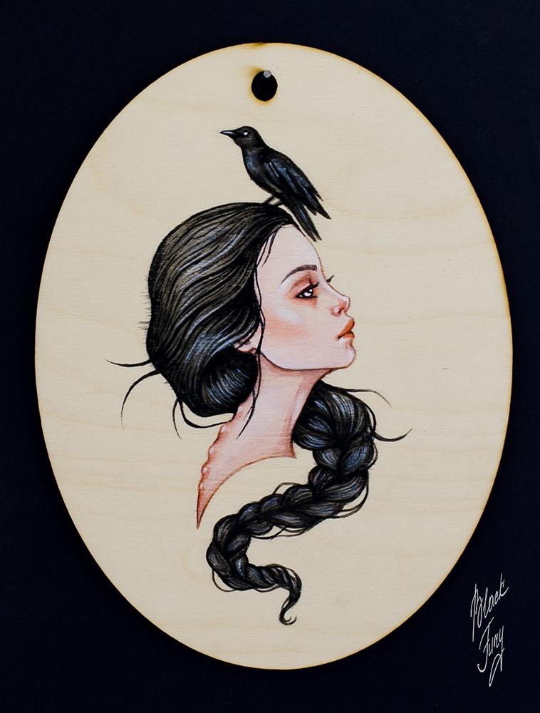 raven girl by BlackFurya