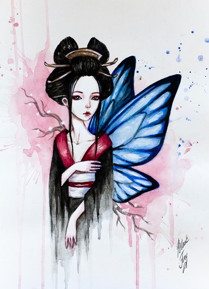 Madame Butterfly by BlackFurya
