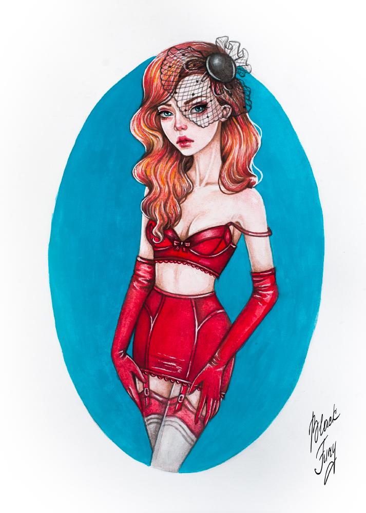 Lady in Red by BlackFurya