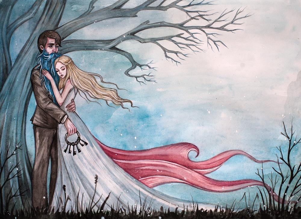 Illustration to the fairy tale Bluebeard