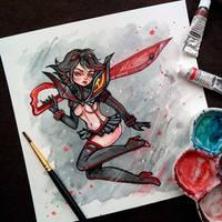 Ryuko (Kill la Kill) by BlackFurya
