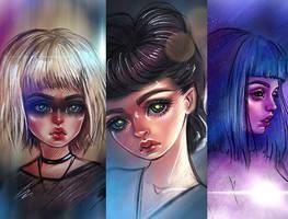 Blade Runner girls by BlackFurya