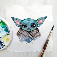 Baby Yoda by BlackFurya
