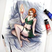 Triss (The Witcher) by BlackFurya