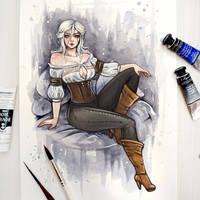 Ciri (The Witcher) by BlackFurya