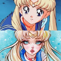 Sailor Moon redraw by BlackFurya