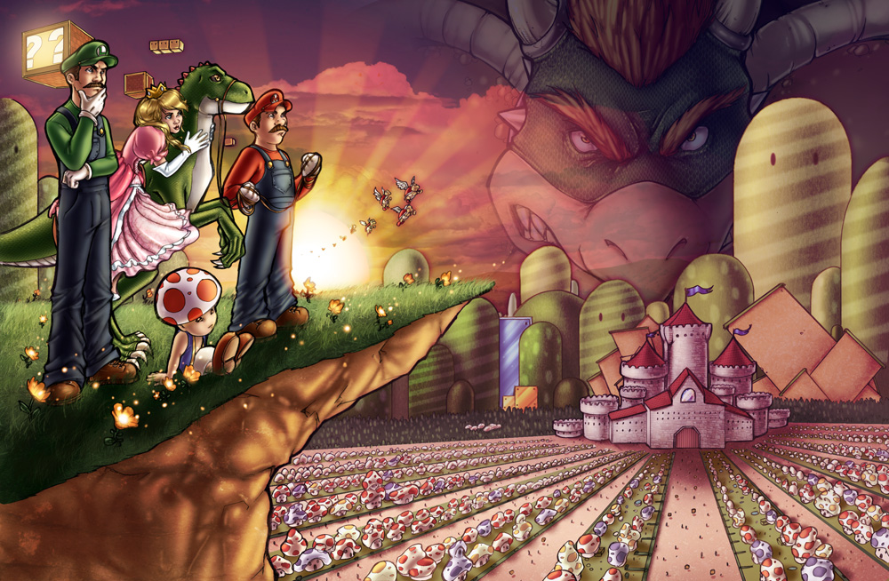 Mario Bros. Color - Sunset by ComfortLove