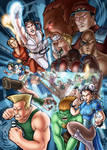 Street Fighter poster color