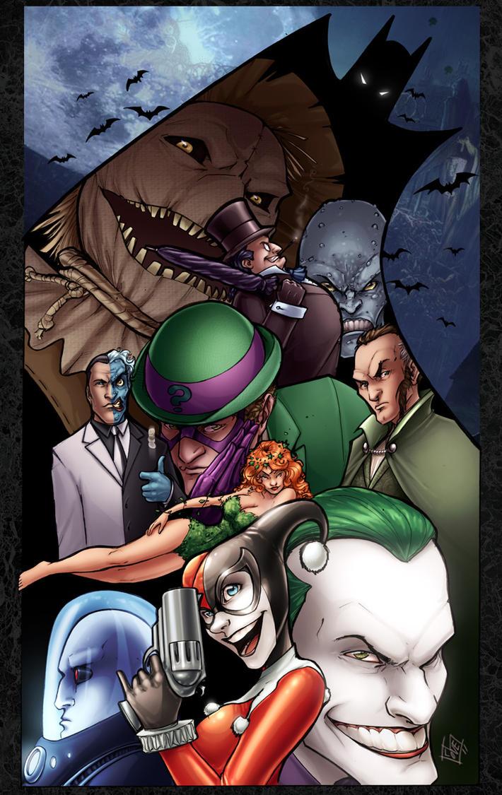 Batman Villains by ComfortLove