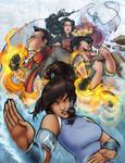 Legend of Korra in color by ComfortLove