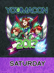 Youmacon 2013 badge by ComfortLove