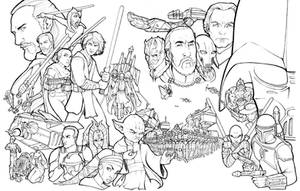 Star Wars Prequels lineart by ComfortLove