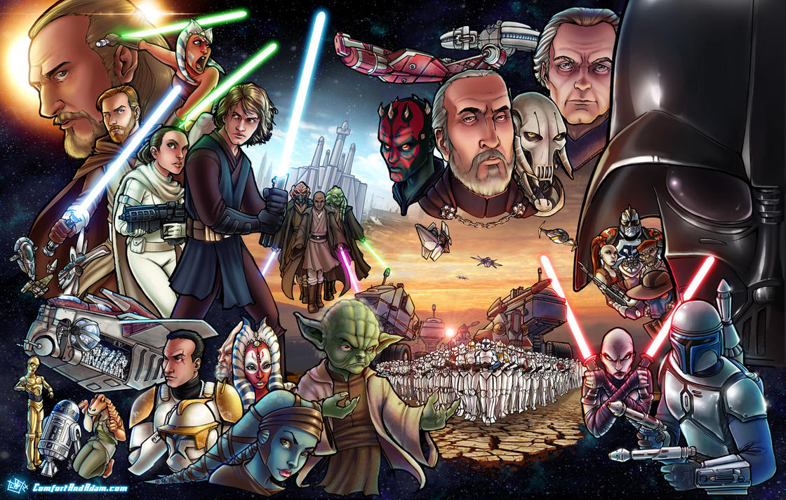 Star Wars Prequels / Clone Wars by ComfortLove