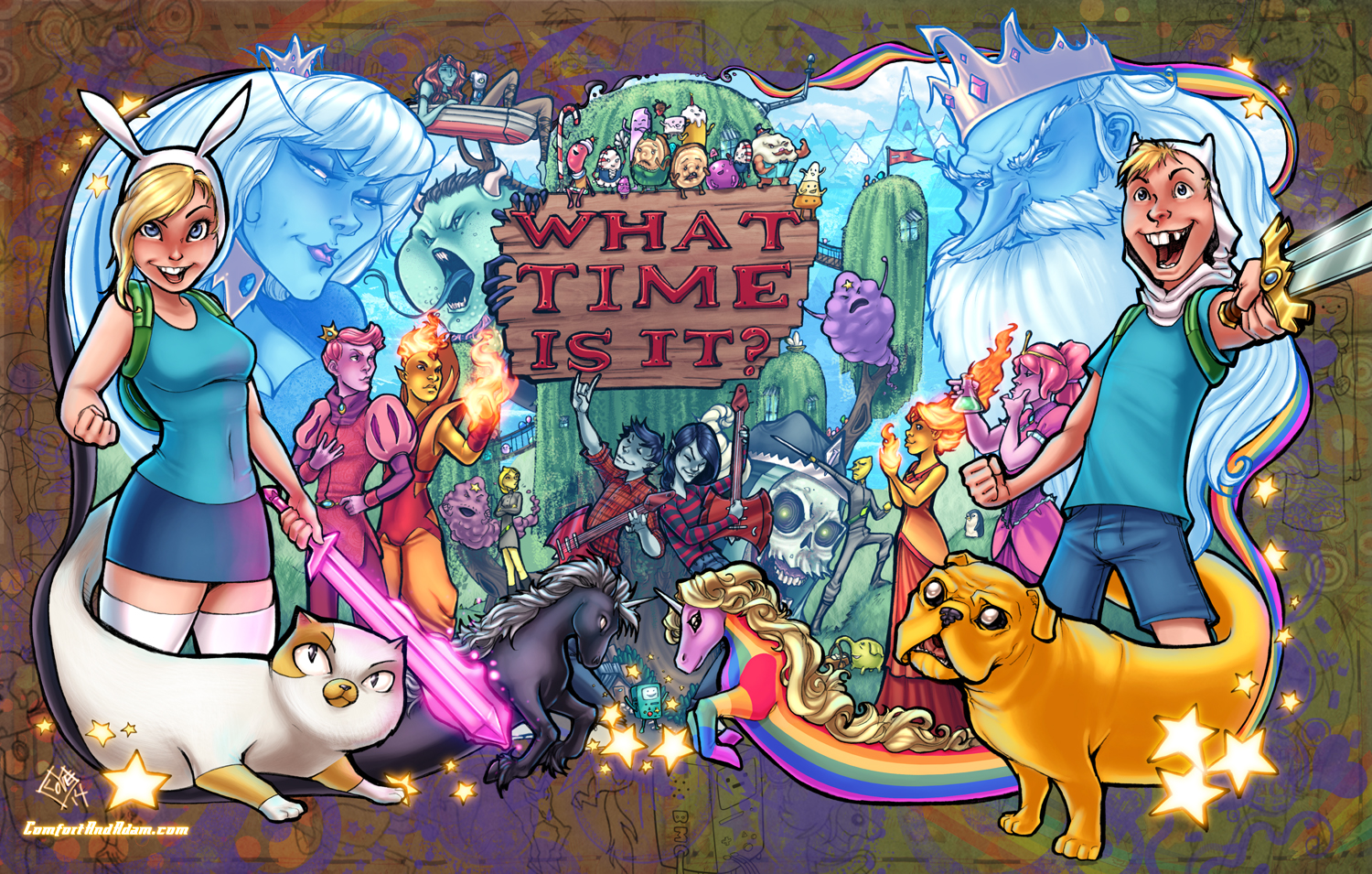 Adventure Time Epicness - final color!